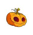 three-dimensional drawing of a halloween pumpkin vector image vector image