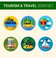 travel icon vector image