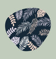 tropic pattern with color leaves vector image vector image