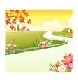 Village Landscape Background vector image vector image