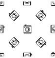 vintage photo camera pattern seamless black vector image vector image