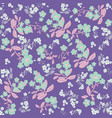 violet flowers seamless pattern vector image vector image