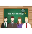 we are hiring employee candidate line up with vector image