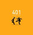 website error 401 authorization required artwork vector image