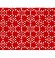 white snowflakes pattern vector image vector image