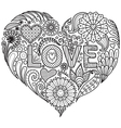 Love in heart shape vector image