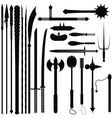 Set bladed weapons vector image