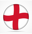 button with waving flag of England vector image