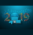 2019 new year business innovation technology vector image vector image