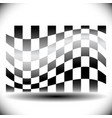 abstract checkered flag on white with shadow vector image vector image