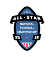 all star american football logo vector image vector image