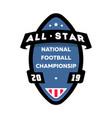 all star american football logo vector image