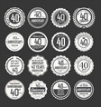 anniversary retro labels 40 years collection 2 vector image vector image