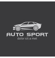 auto sport abstract design template vector image