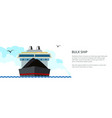 banner dry cargo ship vector image