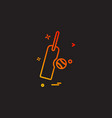 bat ball icon design vector image vector image