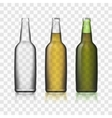 Beer Glass Bottles Realistic 3d Set Isolated On vector image vector image