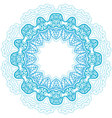 blue round ornament vector image vector image