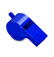 blue whistle vector image