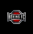 boxing badge logo design vector image vector image
