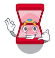 call me wedding ring box in character bag vector image