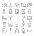Camera and accessories icons set vector image