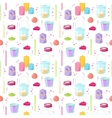 Candles seamless pattern vector image vector image