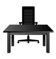 chair and table silhouette vector image vector image