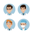 collection doctor occupation emergency vector image