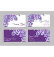 Collection of ornamental business cards vector image vector image