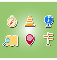 color icons with map and location sign vector image