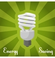 Concept energy saving lamp vector image