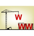Construction web site vector image vector image