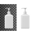 cosmetic bottle mockups liquid soap vector image vector image