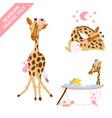 cute giraffe bacelebrating newborn graphic pack