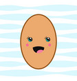 delicious cute egg icon in kawaii style vector image vector image