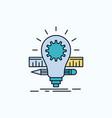 development idea bulb pencil scale flat icon vector image vector image