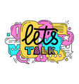 doodle of colorful dialog speech vector image