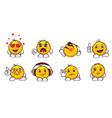 emoji set - shopping vector image