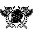fantasy barbarian helmet vector image vector image
