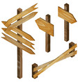 fence wooden signboards arrow sign set vector image