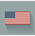 Flat flag of the USA vector image vector image