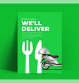 food delivery flyer or banner or poster design vector image