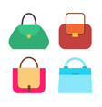 four cute colorful handbags vector image vector image