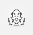 gas mask or respirator concept line icon vector image