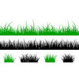 grass silhouette lawn shape meadow landscape vector image vector image