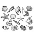 hand drawn - collection vector image