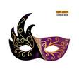 hand drawn venetian carnival mask vector image vector image