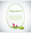 Happy easter greeting card with rabbit ears