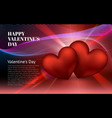 happy valentines day red heart february 14 global vector image vector image